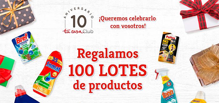 Regalan 100 lotes de productos