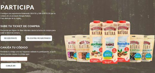 Consigue una experiencia gratis con Borges Natura