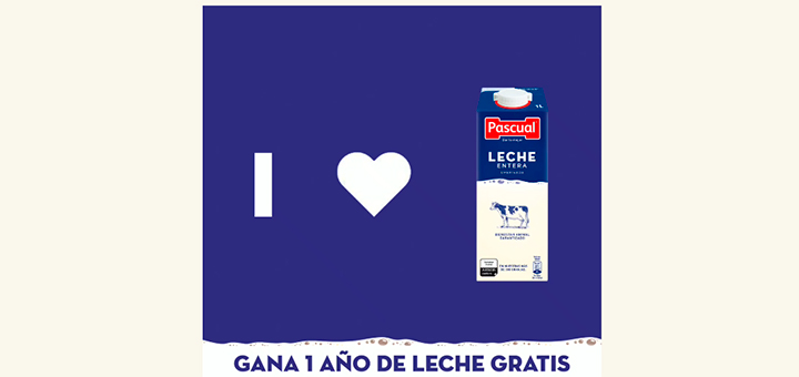 Gana un año de leche gratis Pascual