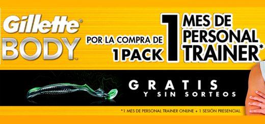 Llévate gratis un mes de personal trainer con Gillette