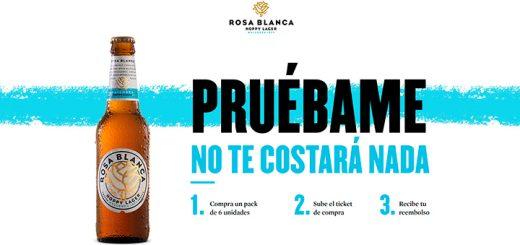 Prueba gratis cerveza Rosa Blanca
