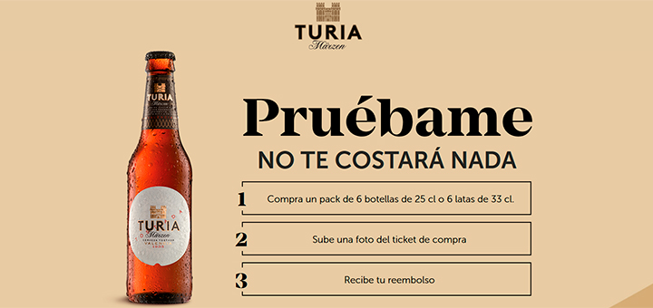 Prueba gratis cerveza Turia Marzen