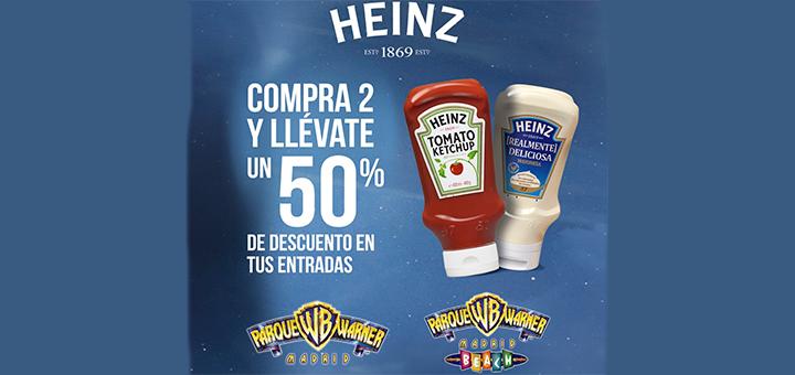 50% de descuento en Parque Warner con Heinz