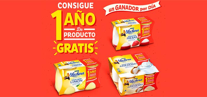 Consigue 1 año de productos gratis La Lechera
