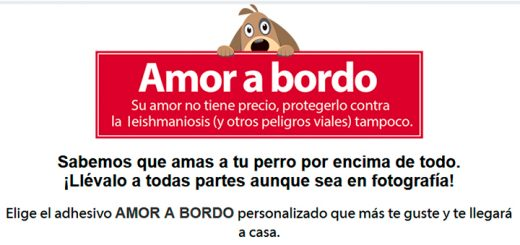 Consigue gratis tu pegatina Amor a Bordo de Advantix
