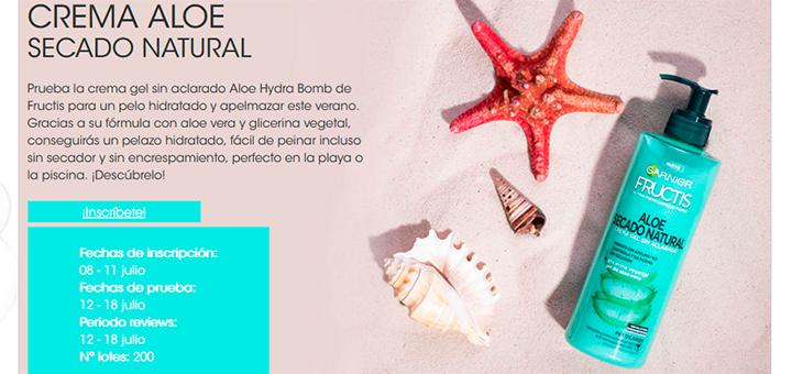 Prueba gratis Crema Aloe Secado Natural de Fructis