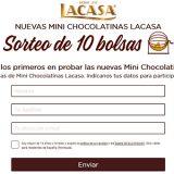 Sortean 10 bolsas de Mini Chocolatinas Lacasa