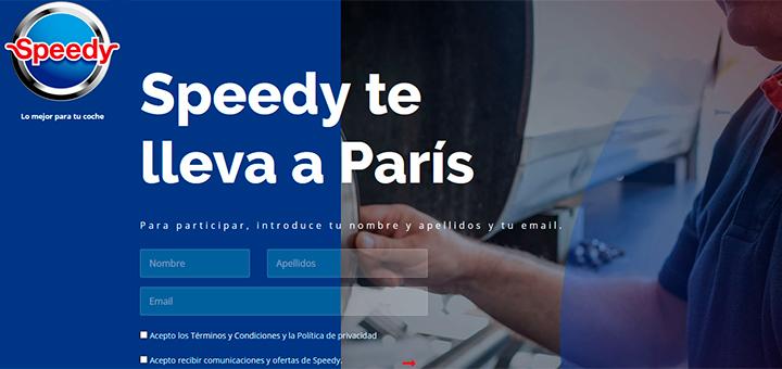 Speedy sortea un viaje a París