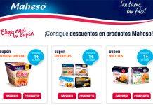 Cupones descuento en productos Maheso verano'19
