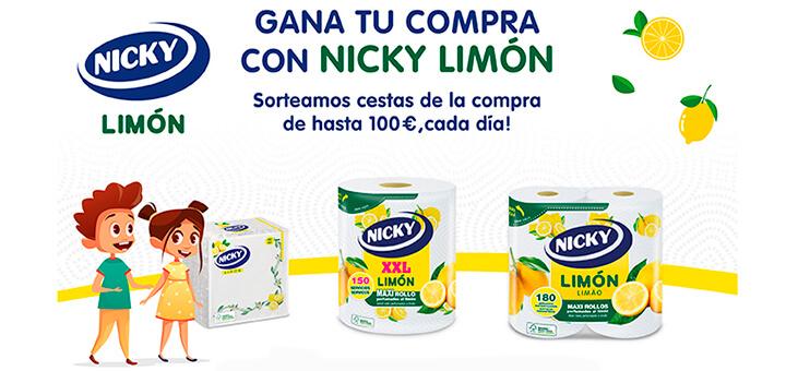 Nicky Limón sortea cestas de la compra