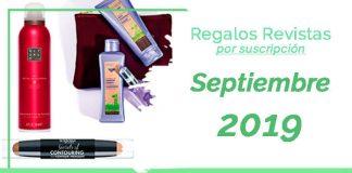 Regalos revistas por suscripción Septiembre 2019