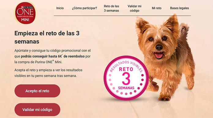 Consigue hasta 6 euros de reembolso con Purina One Mini