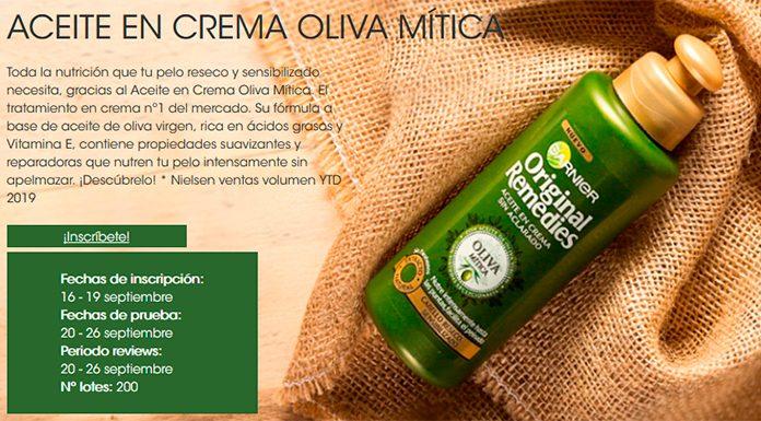 Dan a probar gratis Aceite en crema Oliva Mítica de Original Remedies