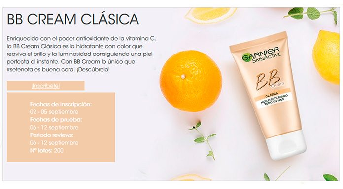 Prueba gratis BB Cream Clásica