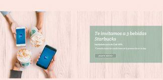 Starbucks te invita a 3 bebidas