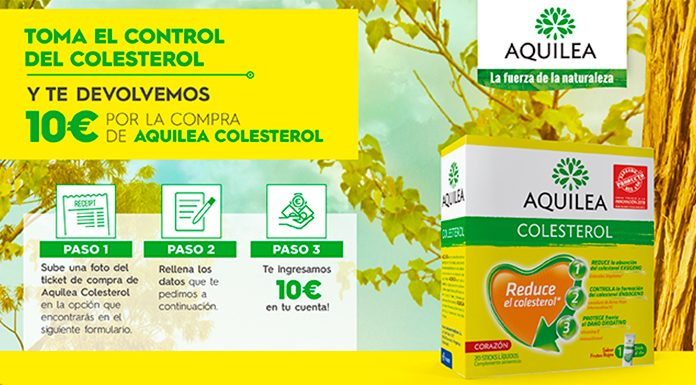 Te devuelven 10€ por la compra de Aquilea Colesterol