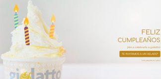 Helado gratis con Giolatto en tu cumpleaños
