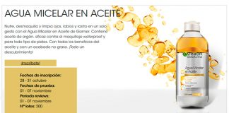 Prueba gratis agua micelar en aceite Garnier