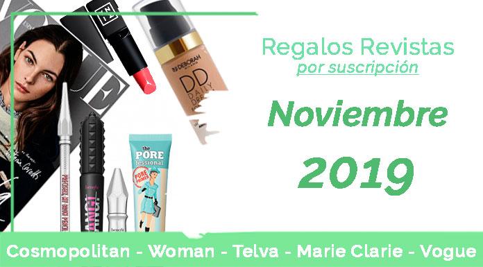 Regalos revistas por suscripción noviembre 2019