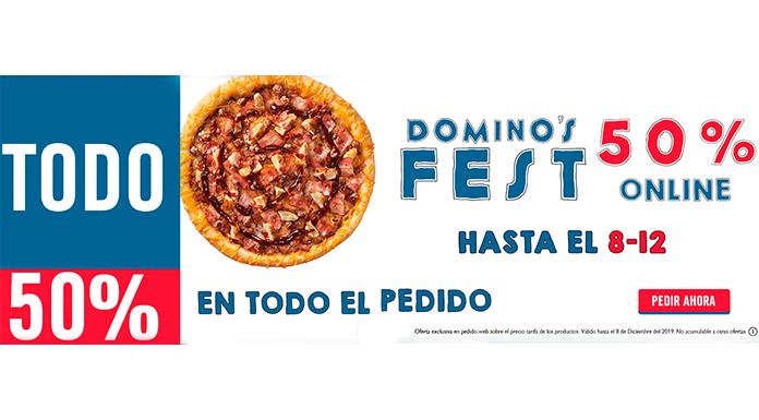 50% de descuento en Domino's Pizza