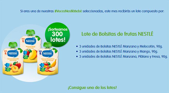 Prueba gratis las nuevas bolsitas de fruta Nestlé