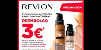 Reembolso de 3 euros en maquillaje Revlon