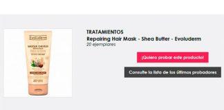 Dan a probar gratis Repairing Hair Mask de Evoluderm