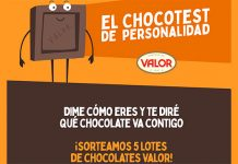 Sorteo de 5 lotes de chocolates Valor