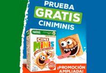 Dan a probar gratis los cereales Cini Minis