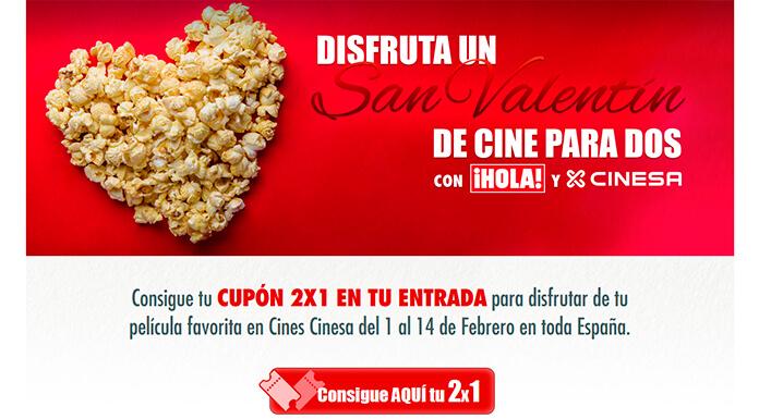 Este San Valentín 2×1 en cines Cinesa y Hola