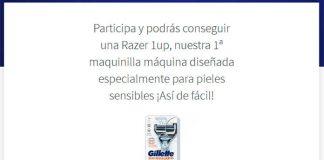Gana una máquina de afeitar Gillette SkinGuardpack con Próxima a ti