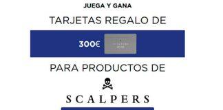 Wilkinson reparte tarjetas regalo de 300€ en Scalpers