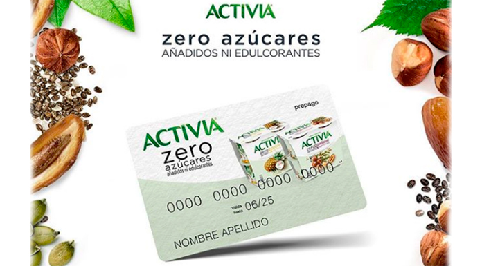 Regalan 500 tarjetas para probar gratis Activia Zero Azúcar