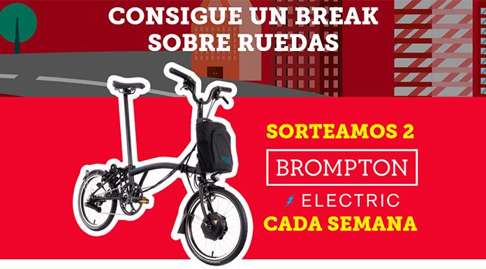 Sorteo de Kit Kat de 12 bicicletas eléctricas Brompton